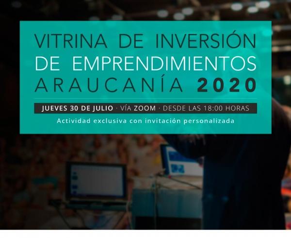 Vitrina de inversión de emprendimientos, Araucanía 2020