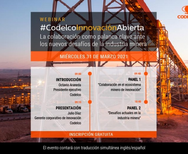 Codelco convoca a ecosistema innovador en torno a los nuevos desafíos mineros